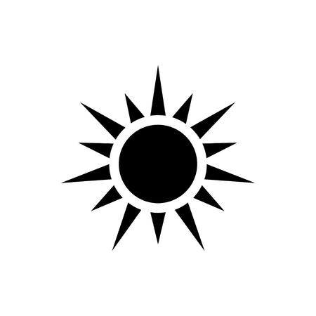 Black color Sun icon isolated on white background. Sun icon. Ilustração