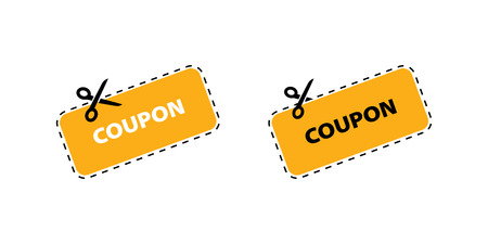 Coupon vector icon. Vector Discount Coupons icons. Coupon icons in flat design.
