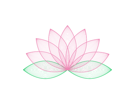 Lotous flower in pink color. Lotos flower in trendy flat design. Eps10