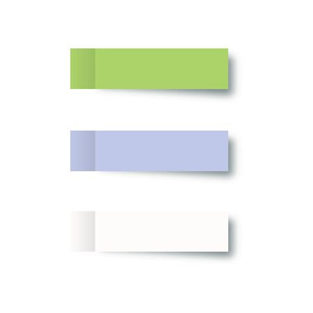 Sticky post note collection. Sticky post note colorful. Stickers with shadow.