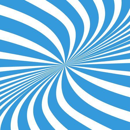 Sun rays background. Sun rays in spiral design. Sun rays blue color. Vector illustration Illustration