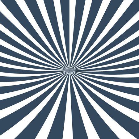 Sun rays background. Sun rays in spiral design. Sun rays blue color. Vector illustration Ilustrace