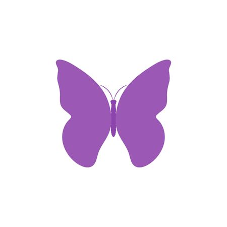 Butterfly vector icon flat design.