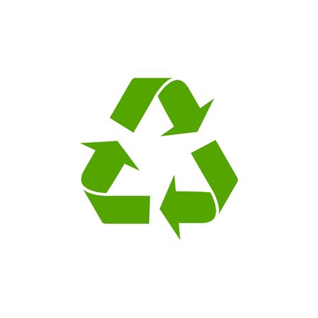 Recycle green icon isolated on white background. Foto de archivo - 127023006