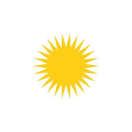 Sun. Sun yellow icon. Sun vector icon isolated on white background. Eps10
