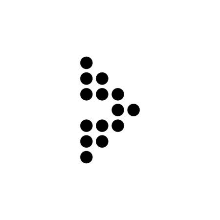 Arrow dots. Arrow dots icon. Black arrow in a right. Иллюстрация