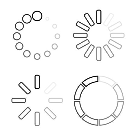 loading icons set. load icons in linear design. load. load icons. loading vector icons. Eps10 Иллюстрация