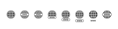 Www big set vector icons. Website icons. Online website or internet flat vector icon. Www vector icons. Website icons for apps. Eps10