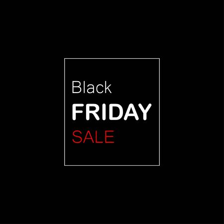 Black Friday Sale. Modern simple flat template design Black Friday Sale for card, poster or banner. Black Friday Sale for list, page, mockup brochure style, banner, idea, cover, booklet, print, flyer, book and badge. Ilustracja