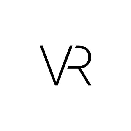 VR black vector icon. VR icon. Virtual reality 360 icon, isolated on white background. Virtual reality icon. Virtual reality symbol in modern simple flat style for web design. Vector illustration Illustration