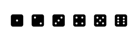 Game dice. Set of game dice, isolated on white background. Dice in a flat design from one to six. Vector illustration. Ilustração