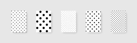 Dots background. Template mockups Dots background. Polka style. Cover for design. Abstract background of dots. Mockup with shadow, isolated. Vector illustration. Ilustração