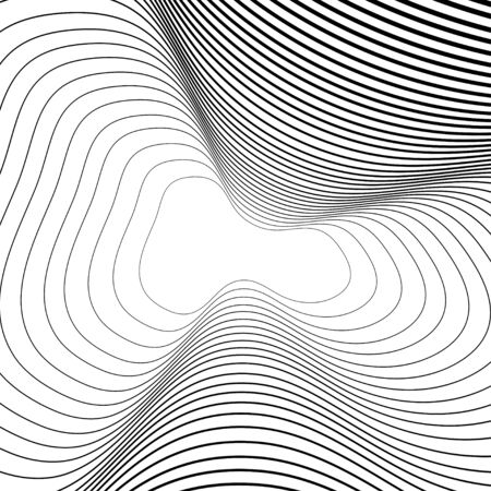 Abstract lines background. Spiral lines background. Abstract geometric backdrop. Modern simple flat design. Vector iilustration. Ilustração