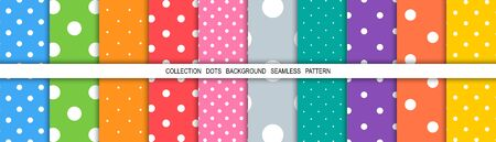 Dot colorful background. Dots abstract background. Template background dots. Mockup. Cover for book. Dot abstract. Template for cloth. Vector illustration.