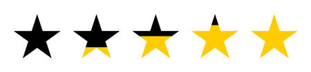 Stars. Five stars rating. Feedback. Concept with five stars. Star vector icons, isolated. Vector illustration