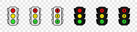 Traffic lights. Traffic lights, isolated. Vector illustration