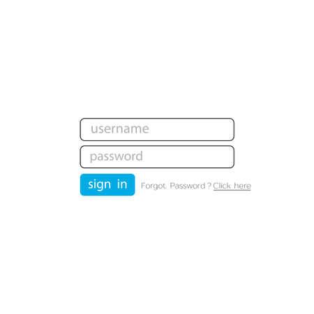 Username and password. Password and Login. User page. Vector illustration Illusztráció