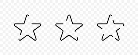 Stars. Stars vector icons, isolated. Star shape. Vector illustration