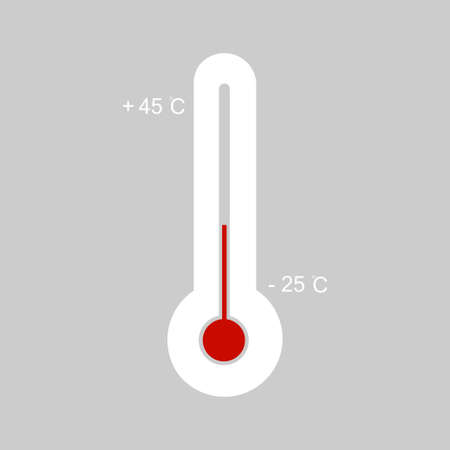 Thermometer. Thermometer equipment showing hot or cold weather. Temperature symbol. Vector illustration