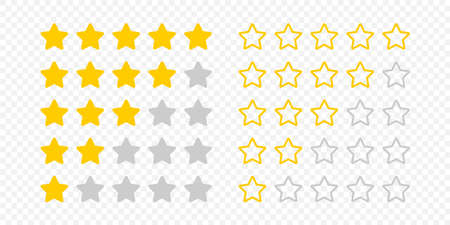 Rating stars. Rating review. Feedback concept. Business illustration. Vector illustration