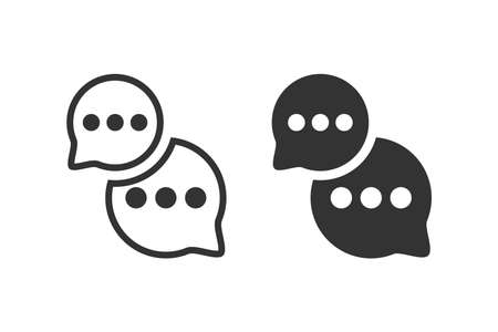 Chat icons. Messages vector icons. Speech bubbles. Vector illustration Çizim