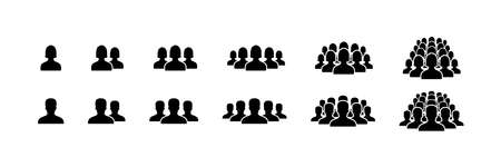 People icons. People vector icons, isolated. People. Man and woman. Business Persons symbols. Team or group icons. Vector illustration