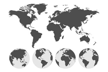 Earth globe. World map. Travel concept. Earth. Vector illustration