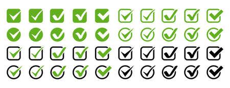 Check marks. Check mark vector icons collection. Business icons. Check mark isolated. Vector illustration