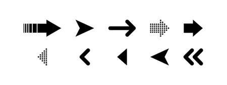 Arrows vector icons, isolated. Arrow. Arrows. Cursor. Computer mouse. Vector illustration Illusztráció