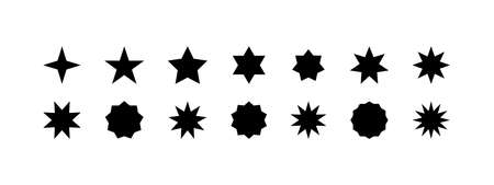 Stars vector icons, isolated. Star. Stars. Vector illustration