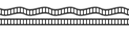 Film Strip. Black Film Stripe, isolated. Vector blank film strip. Vector illustration Illusztráció