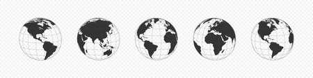 Earth Globe. World map, isolated. Vector illustration