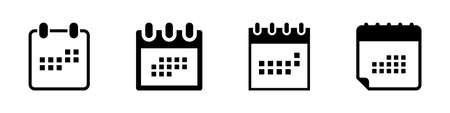 Calendar icons for web design, isolated. Vector illustration