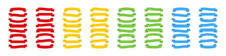 Ribbons. Ribbons Banners collection in different color. Template Ribbons Banners. Vector illustration