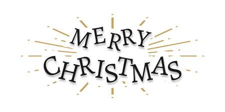 Merry Christmas text. Xmas Lettering design, isolated. Merry Christmas vector text. Vector illustration Illusztráció