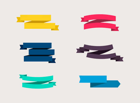 Colorful Ribbons Banners, isolated. Vector illustration
