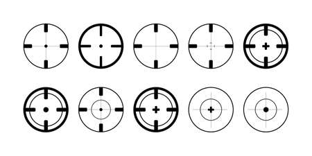 Target. Target vector icons, isolated. Aim collection. Target symbols. Aim for aiming. Vector illustration