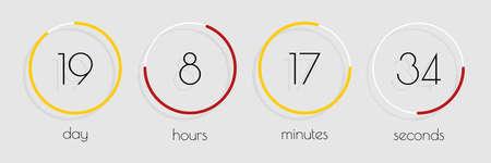 Countdown website. Template digital Clock Timer. Flat design. Countdown clock counter timer. Vector illustration Illusztráció
