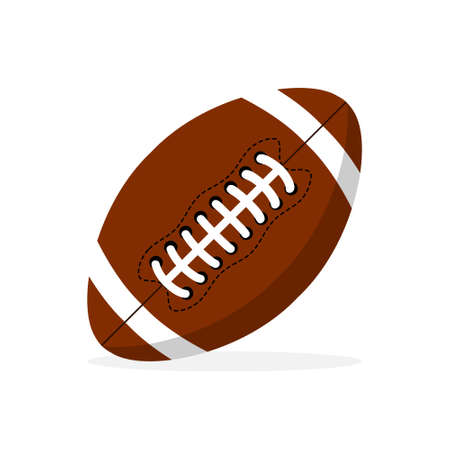 American football ball vector icon. Football ball in flat design. Sport concept. Vector illustration 矢量图像