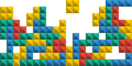 Game Tetris pixel bricks. Game tetris colorful background. Vector illustration Иллюстрация