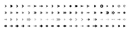 Arrows collection. Arrows black icons. Arrow vector icon. Arrows vector collection Иллюстрация
