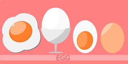 Fried egg in vector format Stock Illustratie