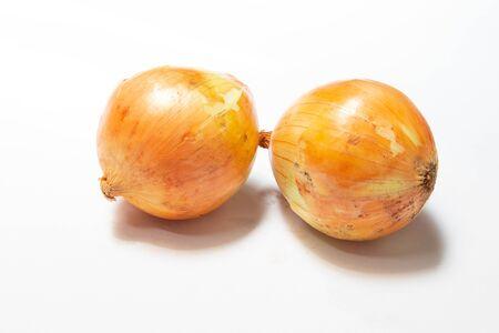 Onion orange on white background with shadow Imagens