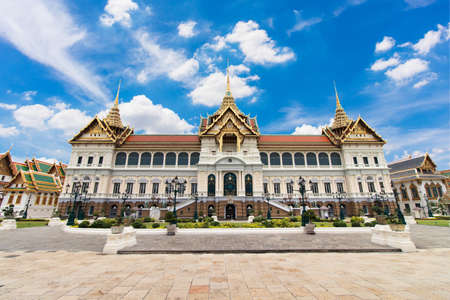 Grand Palace in Bangkok Thailand on day with clear blue sky Editoriali