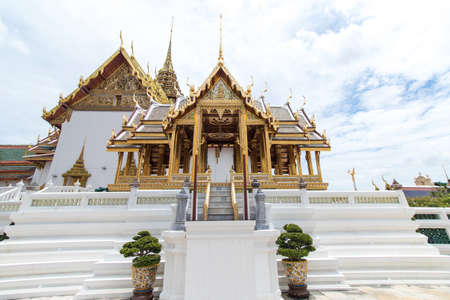 The Royal Grand Palace and Temple of the Emerald Buddha Bangkok, Thailand - June 18,2020 : Arphorn Phimok Prasat Pavilion