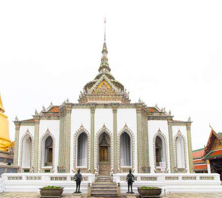 The Royal Grand Palace and Temple of the Emerald Buddha Bangkok, Thailand - June 18,2020 : Phra Sawetkudakham Viharn Yod
