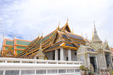 The Royal Grand Palace and Temple of the Emerald Buddha Bangkok, Thailand - June 18,2020 : The Phra Maha Montien Group of Building Editoriali