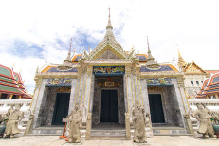 The Royal Grand Palace and Temple of the Emerald Buddha Bangkok, Thailand - June 18,2020 : Entrance to The Phra Maha Montien Group of Building Editoriali