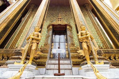 The Royal Grand Palace and Temple of the Emerald Buddha Bangkok, Thailand - June 18,2020 : Phra Mondop