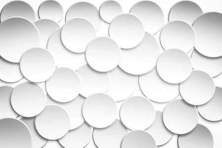 Abstract 3D Circle background in white and bright tone